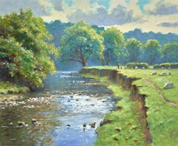 Peckwash by James Preston - Original Painting on Stretched Canvas sized 24x20 inches. Available from Whitewall Galleries